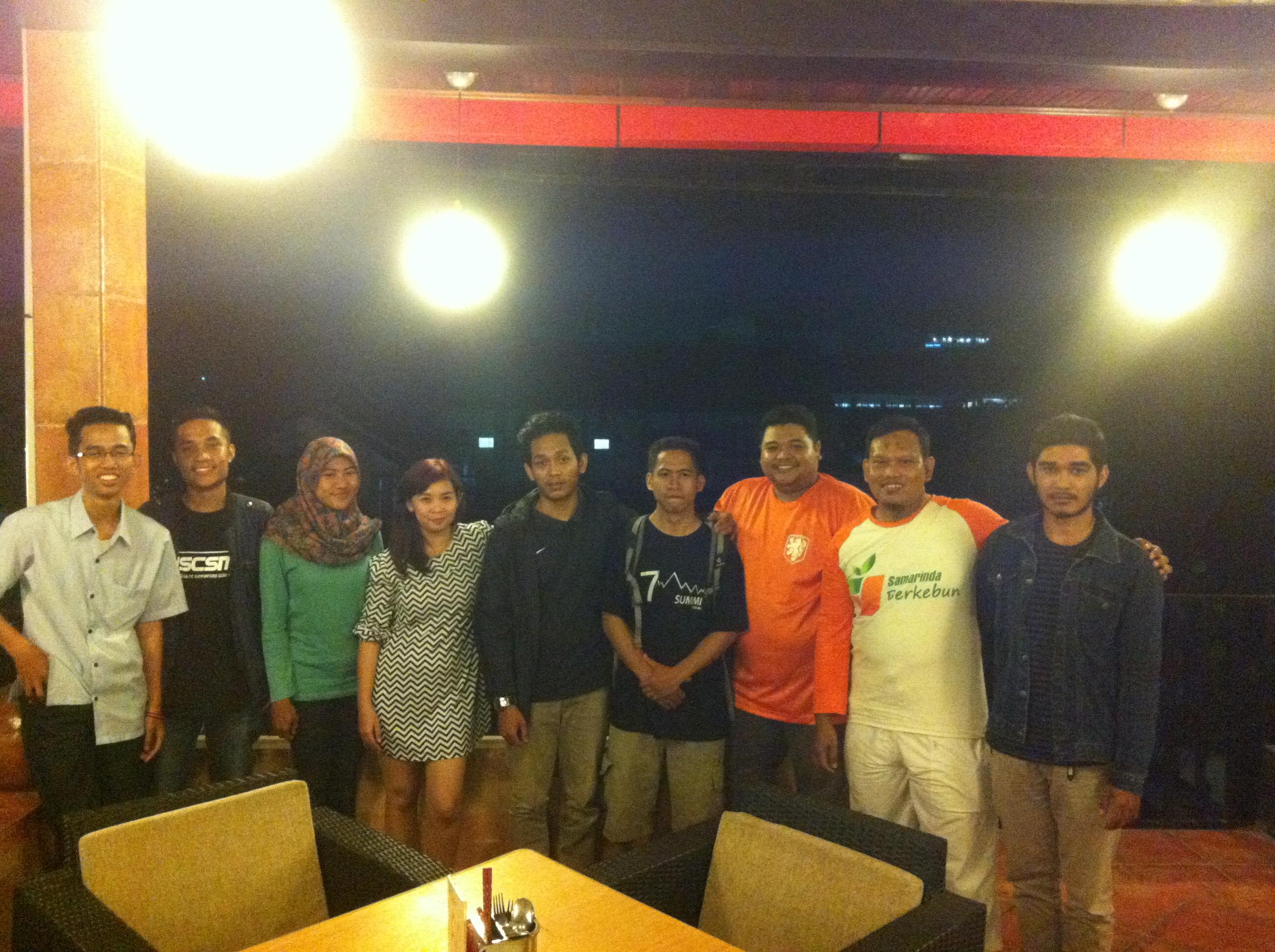Para koordinator gerakan-gerakan sosial berbasis dunia maya di Samarinda.