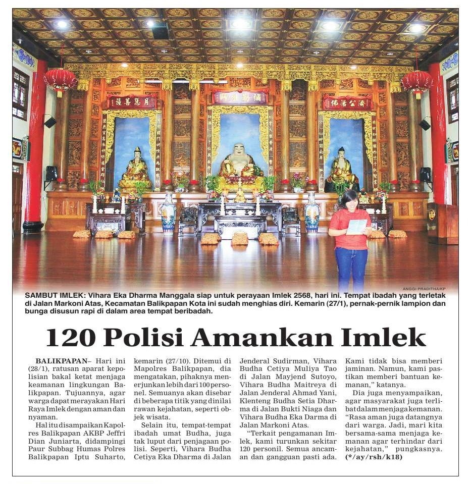 Snippet of digital newspaper page about Imlek Capgomeh.