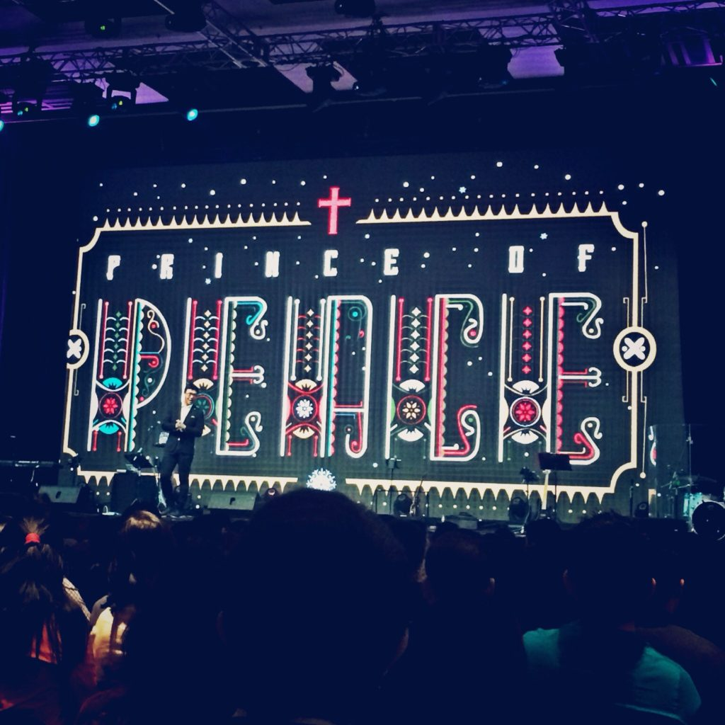 A stage for church service.