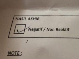 A tickbox label NEGATIF