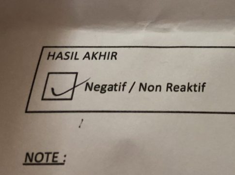 A tickbox label NEGATIF