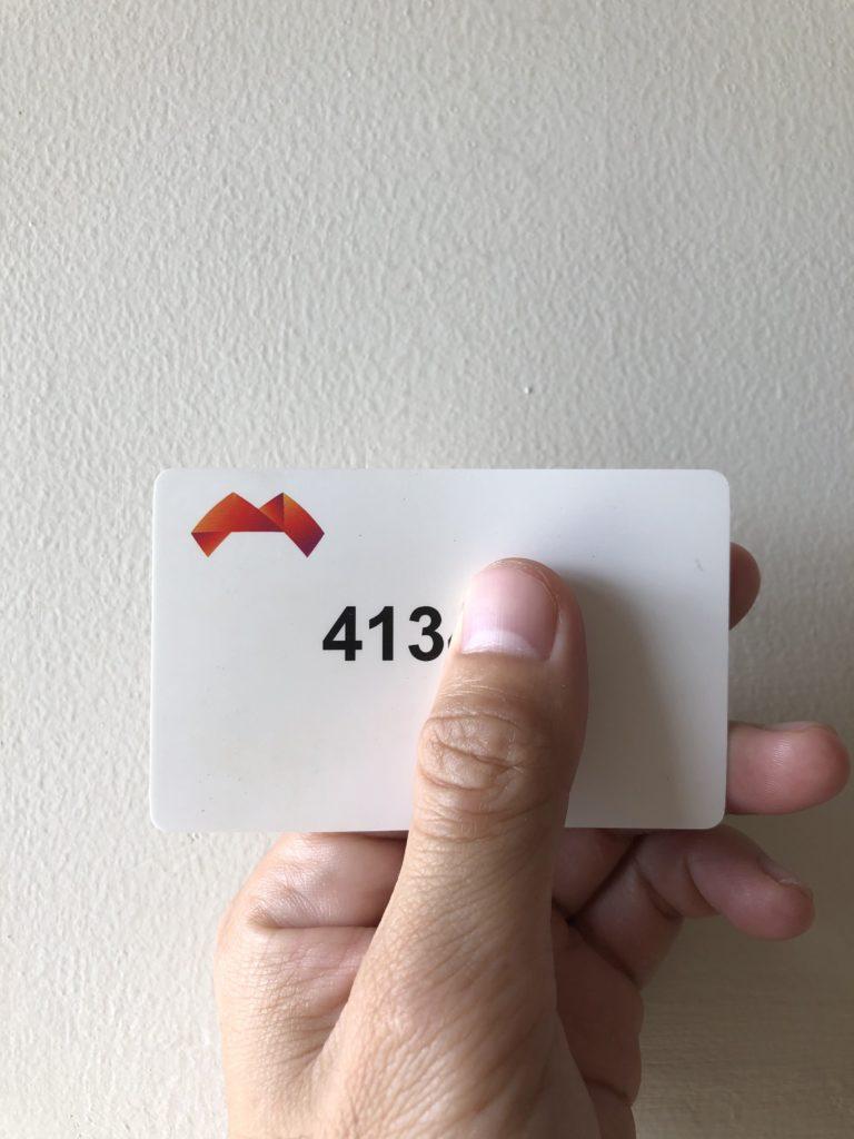 A health clinic registration card.